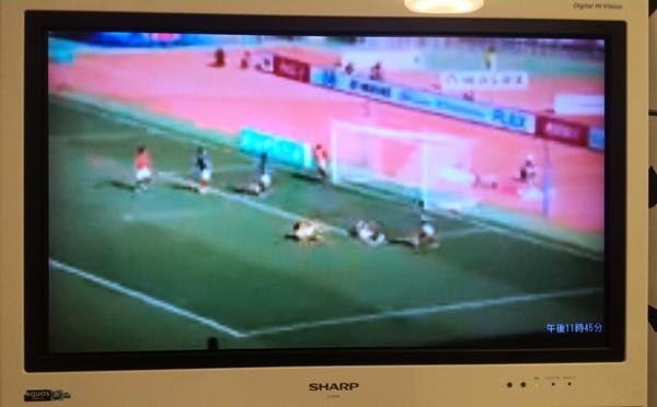 AppleTVでテレビにDAZNを映したときの低画質画面