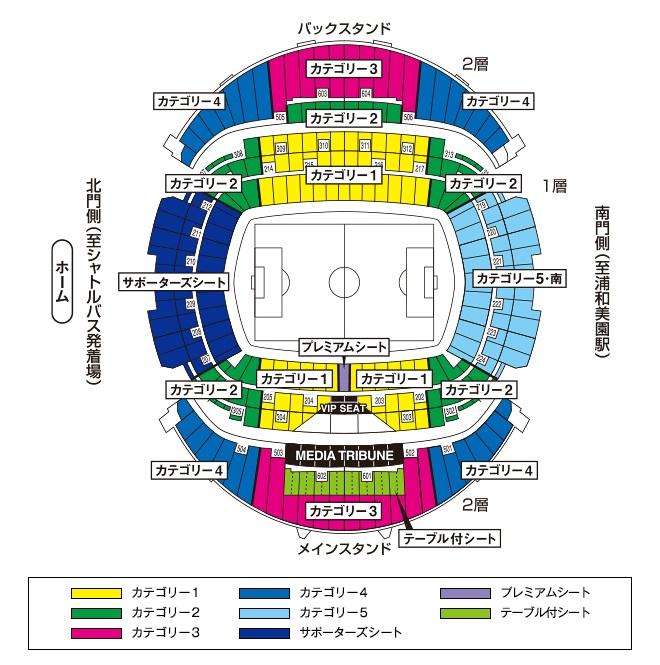 埼玉スタジアムの席割り