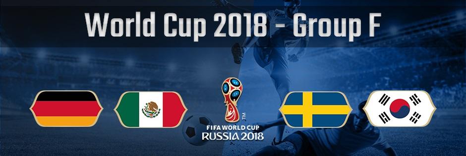ロシアワールドカップグループF、ドイツ、メキシコ、スウェーデン、韓国の国旗