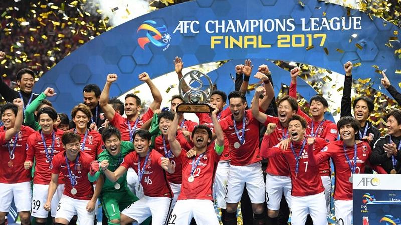 2017年ACLの浦和レッズの優勝セレモニー