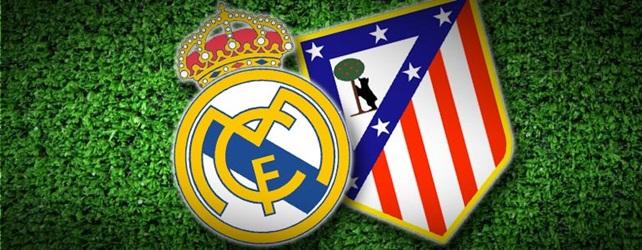 アトレティコとレアルのマドリードダービーのロゴ