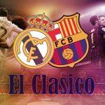 レアルマドリード、バルセロナのクラブエンブレムとエル・クラシコのロゴ