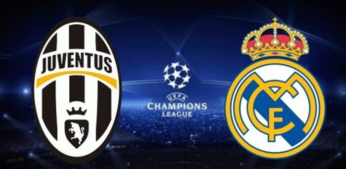 UEFAチャンピオンズリーグ17-18準々決勝、ユベントス対レアルマドリードのクラブロゴ