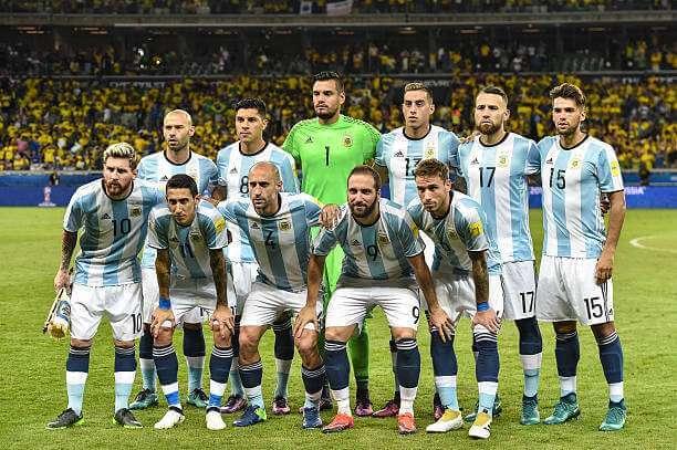ロシアワールドカップを目指すアルゼンチン代表メンバー