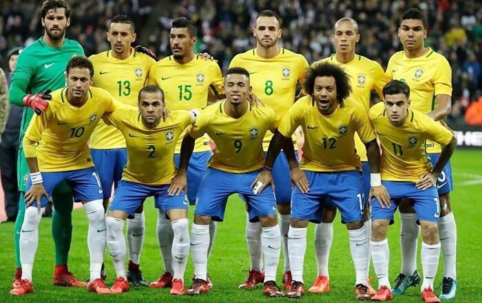 ロシアワールドカップに挑むブラジル代表メンバー