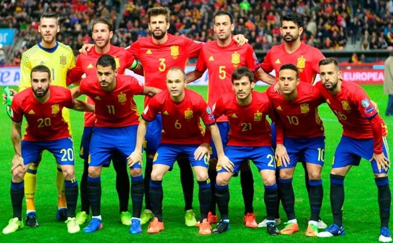 ロシアワールドカップに挑むスペイン代表チーム
