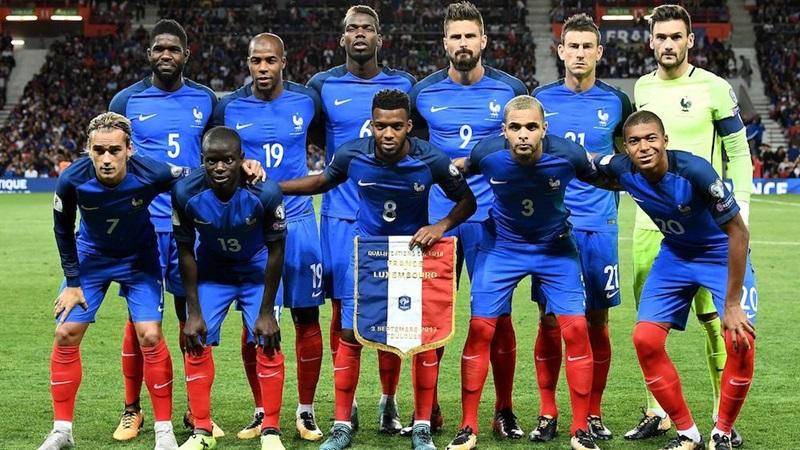 ロシアワールドカップに挑むフランス代表チーム