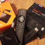 Amazon Fire TVとFire TV Stcikを並べた様子