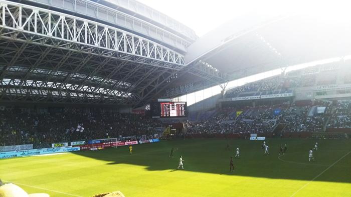 ノエビアスタジアム神戸での試合風景